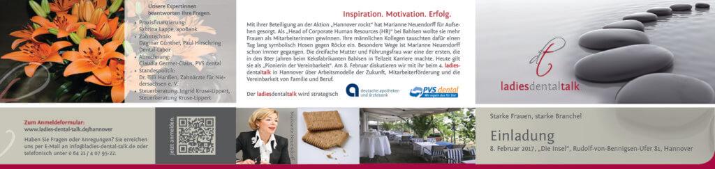 Starke Frauen, Starke Branche! - Einladung 08. Februar 2017 Ldt Hannover 17 02 08 Einladung