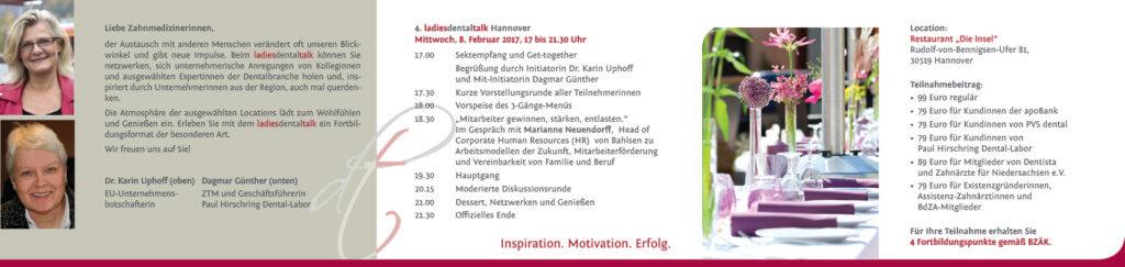 Starke Frauen, Starke Branche! - Einladung 08. Februar 2017 Ldt Hannover 17 02 08 Einladung2