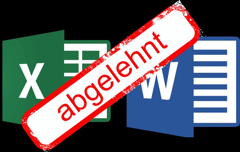 Wordvorlagen und Excelvorlagen
